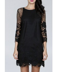 Ark & Co Crochet Shift Dress