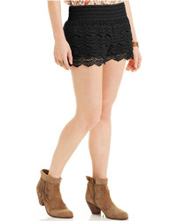American Rag Tiered Crochet Knit Shorts