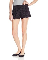 Angie Juniors Lined Crochet Short