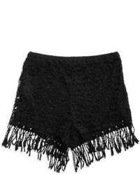 Lush Crocheted Fringe Shorts