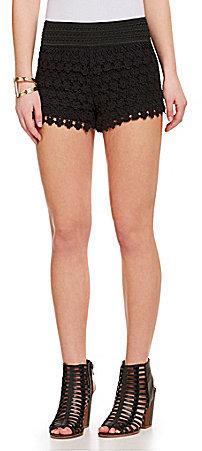Jolt Tiered Floral Crochet Shorts 29 Dillards Lookasticcom