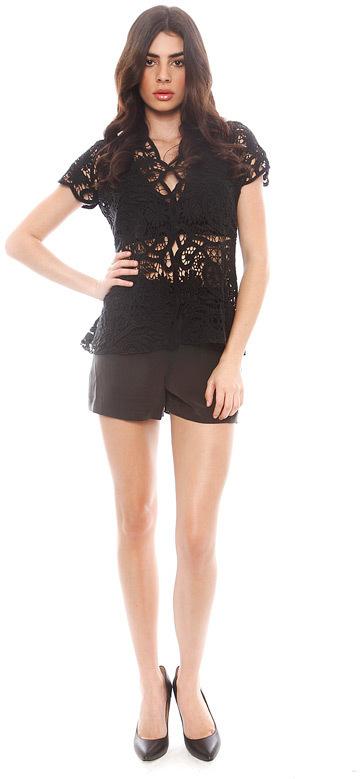 266e28b0 Alexis Kassi Button Down Crochet Top, $319 | Singer22 | Lookastic.com