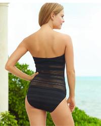 ... Lauren Ralph Lauren Crochet Hardware One Piece Swimsuit ...