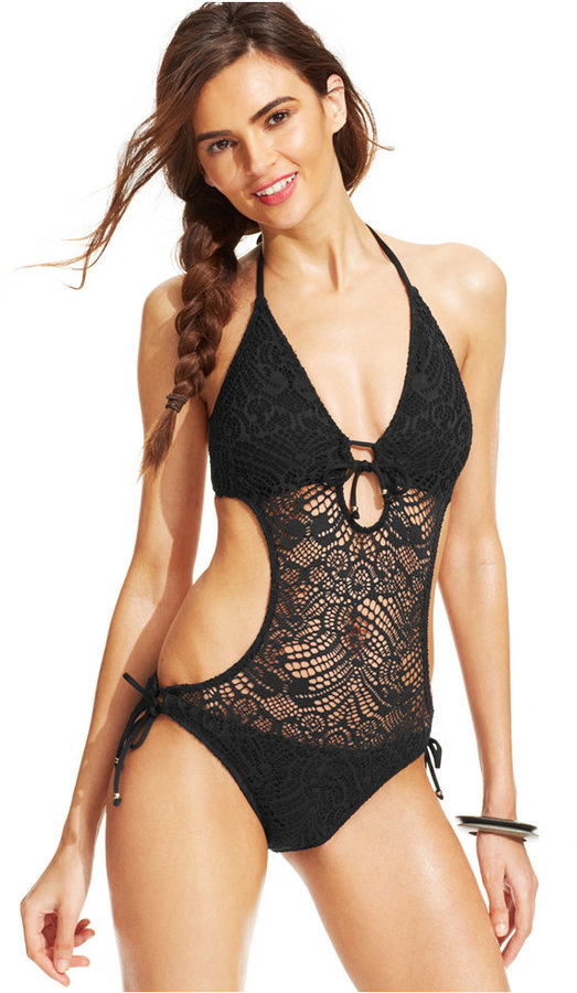 Polo Ralph Lauren Crochet Illusion Monokini Swimsuit 117 Macys