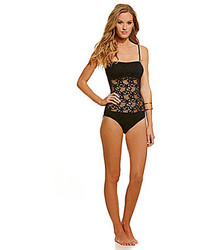 Kenneth Cole Reaction Island Fever Crochet Bandeau One Piece