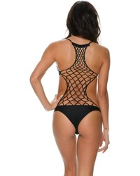 Mikoh Xavier Crochet Back One Piece
