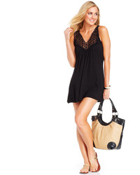 Kenneth Cole Reaction Crochet Top Tunic Cover Up