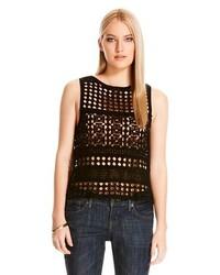 Cliche Crochet Tank Black