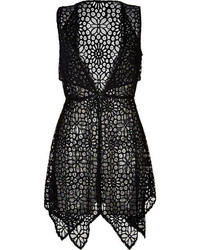 Anna Sui Sheer Crochet Lace Vest