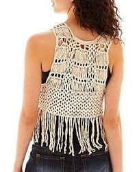 Takeout Take Out Crochet Fringe Vest 38 Jcpenney Lookasticcom