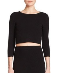 Rebecca Minkoff Aria Cropped Ribbed Sweater