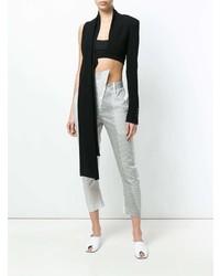 Lost & Found Ria Dunn Asymmetric Sleeve Crop Top