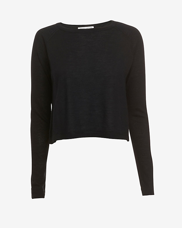Autumn Cashmere Boxy Crop Cashmere Sweater Black | Where to buy ...