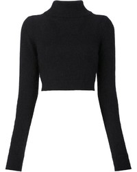 Balmain Cropped Turtleneck Sweater