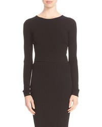 Cushnie et Ochs Knit Lace Up Back Crop Top