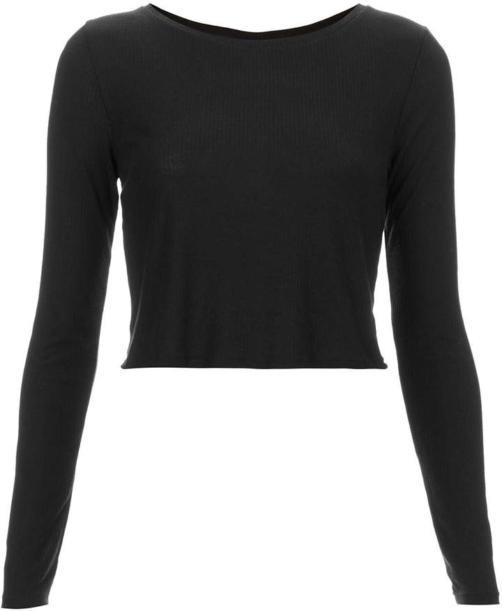 Topshop Long Sleeve Skinny Rib Crop Top | Where to buy & how to wear