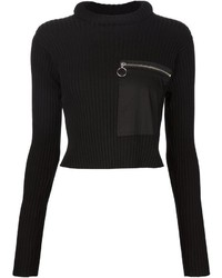 MM6 MAISON MARGIELA Cropped Ribbed Sweater