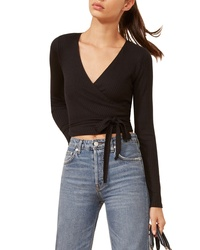 Reformation Petalo Wrap Crop Top