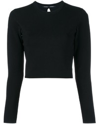 Proenza Schouler Cut Out Back Cropped Knit