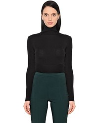 Wool silk cropped sweater medium 4418377