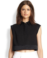 3.1 Phillip Lim Cropped Collared Shirt