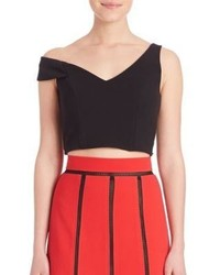 ABS by Allen Schwartz Abs One Shoulder Cropped Top