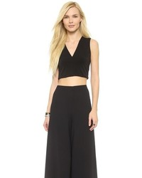 Alice + Olivia Air By Front And Back V Crop Top