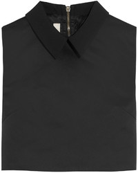MCQ Alexander Ueen Cropped Crepe Trimmed Satin Top