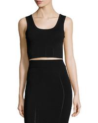 MCQ Alexander Ueen Ergonomic Fashion Bra Crop Top Black