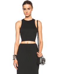 Alexander Wang T By Lux Viscose Blend Ponte Bandeau Back Crop Top