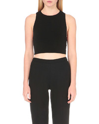 Alice + Olivia Alice Olivia Tayla Cross Back Cropped Top