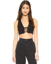 Free People As You Wish Embroidered Crop Top