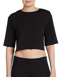 Bec & Bridge Textured Crop Top