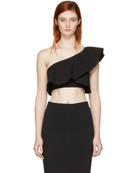 Isabel Marant Black Hayo Single Shoulder Crop Top