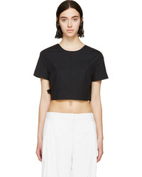 Marc by Marc Jacobs Black Side Tie Crop Top