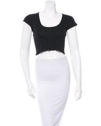 Chanel Short Sleeve Crop Top