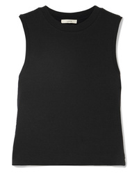 Vince Cropped Cotton Jersey Tank