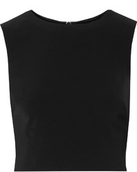 Badgley Mischka Cropped Crepe Top