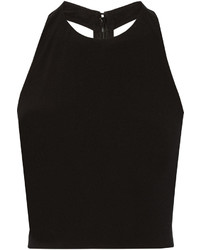 Alice + Olivia Cropped Stretch Jersey Top