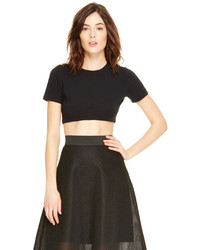 DKNY Cotton Jersey Crop Tee