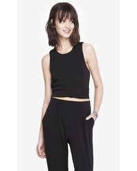 Express Overlapping Hem Boxy Cropped Top