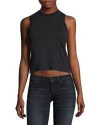 Rag & Bone Jean Cropped Mockneck Tank Top