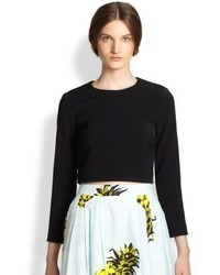 MSGM Long Sleeve Crop Top