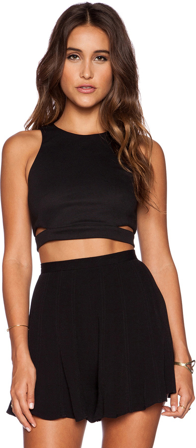 bcd3f605f88 Lucy Paris Natalie Cut Out Crop Top, $46   Revolve Clothing ...