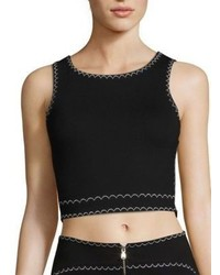 McQ by Alexander McQueen Mcq Alexander Mcqueen Contrast Stitch Cropped Top