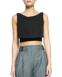 McQ by Alexander McQueen Mcq Alexander Mcqueen Party Crop Top Black