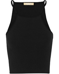 Michael Kors Michl Kors Collection Cropped Stretch Knit Top Black
