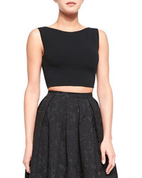 Michael Kors Michl Kors Sleeveless Knit Crop Top Black