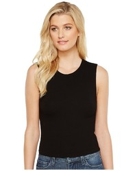 Michael Stars Michl Stars 2x1 Rib Cropped Crew Neck Tank Top Sleeveless