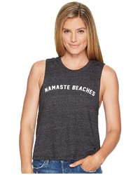 Spiritual Gangster Namaste Beaches Arch Crop Tank Top Sleeveless